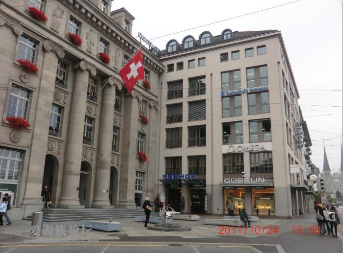 瑞士琉森的劳力士专卖店