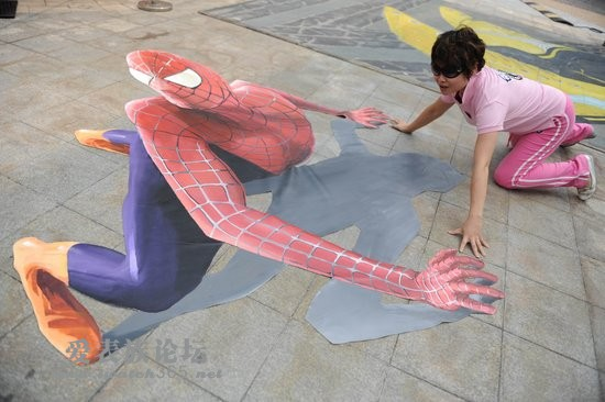 3d立体画蜘蛛侠