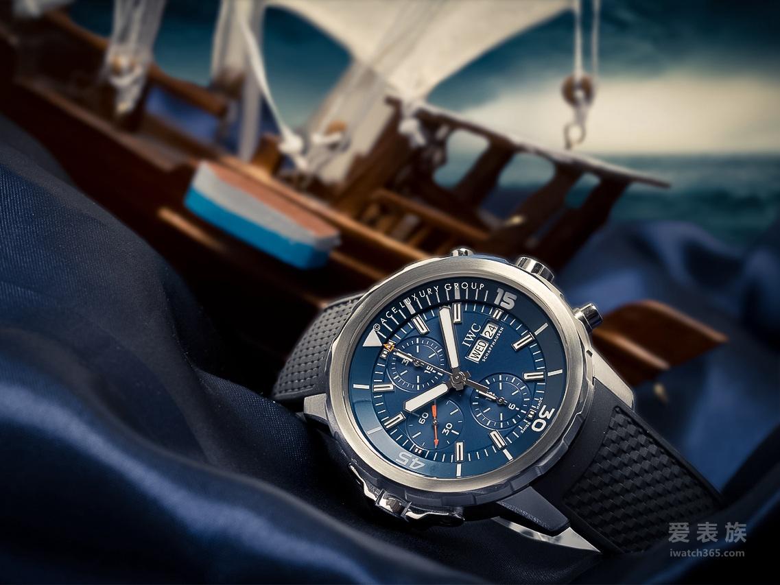 7750芯的万国海洋时计计时腕表